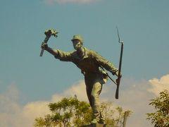 カルタゴからドカのコーヒー園に移動する途中、アラフエラの公園でフアン・サンタマリアの像を見ました。  彼は救国の英雄です。
