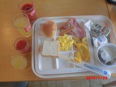 ホテル「サンライズ九十九里」の朝食。