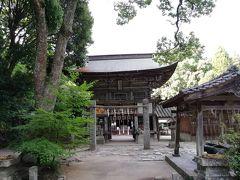 最後に二見ヶ浦のある神社へ🚙 ある名前で有名😄 楼門が歴史を感じさせます