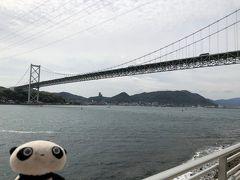 関門橋を対岸から。 この海の下にトンネルがあって、そこを自分が通ってきたのは不思議な感じです。
