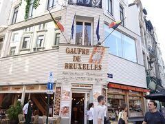 ホテル近くのこちらも。。ワッフル屋さん・・こちらのワッフルもおすすめっぽく書いてあったの思い出したわ ゴーフル ドゥ ブリュッセル