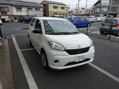 再び津山の駅前に戻ると、ここからはレンタカー。
