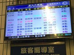2日目、台湾駅から電車で十分へ行きます。 駅行内の入り口がわからず・・ちょっと迷いました。 でも時刻表は日本で調べていったので無事乗車、少し混んでいたのですが次の駅から座れてラッキー。