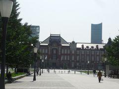 行幸通りを通り、東京駅を振り返ります。