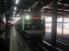 ホームに着いたらすぐに電車が入線 しかも勝田行なので、乗り換えいらず♪