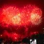 2019年夏休み:第40回浦安市花火大会『浦安の夏を彩り40年』La'gent Hotel TokyoBayの前で(夫婦で&子供達は友達と)