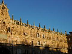 折からの西日を受けて建物が金色に輝いています