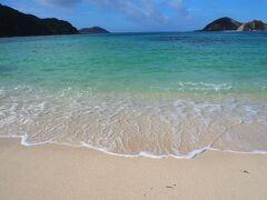 昨日まで波打ち際やビーチにあった海藻がほとんどなくなって、透明度も良くなってきています! きれい~