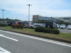 8月7日12時半。 庄内空港から予約しておいた観光タクシーに乗ります。 美人の運転手さんが迎えに来てくれました。
