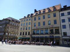 オペラ座前のレストラン「シュパーテン」。 https://www.kuffler.de/en/restaurant/spatenhaus/ ここには夜に入りました。 1階と2階でメニューが違って、1階が典型的なバイエルン料理のお店です。