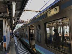 旅のスタートは高尾駅 本当は長野側から行きたかったけど、今はJR線がない分断駅になってしまった