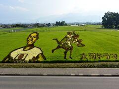 帰りにあずみのスイス村で田んぼアートを見学。300円/一人。  ==終わり==