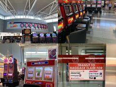 US内に入ってから急に慌ただしい感じになってしまったが、とにかくも安全第一で無事にLASのマッカラン国際空港に到着。 空港ターミナル内に設置されたスロットマシンの電子音が響いて、まるで訪問客を歓迎しているみたいだ。 この音を聴くとラスベガス/LVに来たと実感する。  UAのバゲージクレイムがあるターミナル3へ、Red Lineのモノレールで移動する