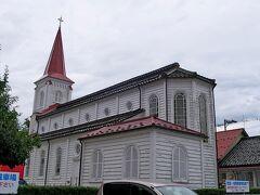 鶴岡カトリック教会 裏側から