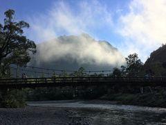 憧れの上高地。6時50分。河童橋にとうとう到着しました。