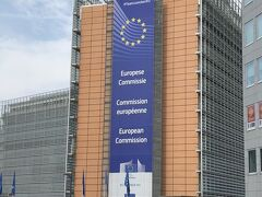 EU本部・この後ろにはEU理事会の本部があります。 ちなみに欧州議会場はレオポルド公園の前です。
