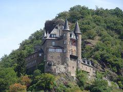 右岸に「ねこ城」。 なんで、ねこ? と、長年疑問に思ってました。 調べると、正式名称:ノイカッツェンエルンボーゲン城→短くカッツ城→ドイツ語で猫を意味するカッツェ Katze→「ねこ城」と、なったそう。