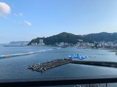 ホテルの窓からの景色