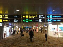 ほぼ定刻の17時半にチャンギ空港着。