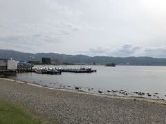 諏訪湖にもちこっと立ち寄り。