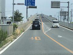 江島大橋を通ったけどこれは降りて撮らないとうまく撮れないんだなと帰宅して画像見ながら思った