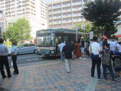 この日より清瀬ひまわりフェスティバルが開催されていて、期間中は清瀬駅前から無料のシャトルバスが運行されています  それでは、その無料シャトルバスに乗って行きましょう
