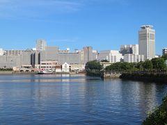まずはヴェルニー公園。アメリカ軍や自衛隊の艦船を眺めながら・・・ 季節によってはバラで華やかな公園だが、今の季節は少し寂しい。 京急汐入駅前のショッパーズプラザ横須賀は改装工事中。