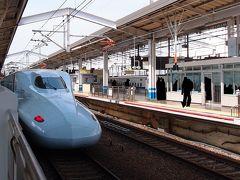 JR岡山駅に着きました! 乗車時には時間が無くて撮れなかったさくらを正面からパチリ。