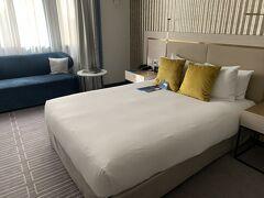 正午ごろにホテルにチェックイン。 部屋に入ることができたので、1時間ほど昼寝をすることにした。  ホテルはRadisson Blu Plaza Hotel Sydney。 キングサイズベッドをリクエストしておいたが空きがなかったらしくクイーンサイズだったが、十分な広さだった。