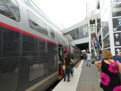 レンヌ駅到着  われわれが乗ったTGV