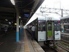 新発田駅で乗り換え。