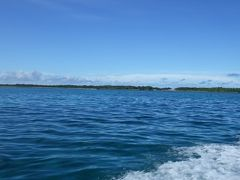 前日に「マリンサービスふしま」に電話してシュノーケリングツアーを予約しました。  「マリンサービスふしま」のHPはこちら、<<https://fushima.net/>>  3世代ファミリー5名とウチら3名(ウチら夫婦となかた荘のヘルパーの方)で出発です。 最初のポイントは黒島の喜屋武御嶽の沖です。