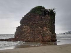 弁天島 こんなところに鳥居がΣ(・□・;)
