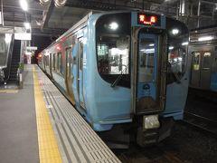 最後の電車は八戸発の青い森鉄道の新車ですが、郡山駅の電車を水色に塗り替えたバージョンでした。