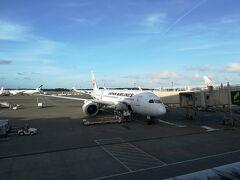旅のはじまりは成田空港から 手荷物検査、入国審査を済ませて出発エリアに入ります 今回のる飛行機は日本航空のエコノミークラスです。