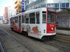 市電バス1日フリー切符1000円を買って、まず市電に乗り、湯の川温泉でサッパリします。函館市電は、ネットを見てると運転休止のようにも理解できましたが、市民の足としてしっかり動いてました。