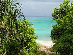 ●2019/8/01(木)  仲本海岸のシュノーケリングタイムは午後なので、午前中は大好きな西の浜でまったりタイムにします。  西の浜の入口、整備されて草ぼうぼうでなくなり、綺麗になってました。