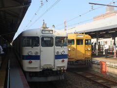 下関のカプセルホテルに宿泊し、朝は下関駅からスタート。 JR西日本の駅ですが、JR九州の電車での出発です。