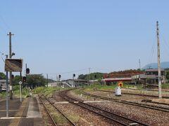 田川伊田駅に戻り、隣の田川後藤寺駅へ。 かつて多くの石炭満載の貨物列車が発着した名残でとても広い駅構内です。  ここから後藤寺線というローカル線に乗り換えます。
