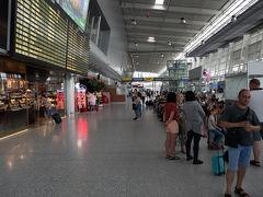 リヴィウ1日目(全行程3日目). そうこうしているうちに,ほぼ定刻にリヴィウ国際空港に到着. 入国審査もサラリと抜けて,今回のメイン国ウクライナに無事入国.
