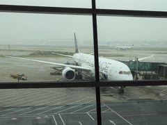 無事に北京へ到着しましたが、この時はまだ雨模様。