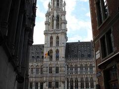 ふとしたところから見た、グラン・プラス。 すぐに見つかったってことは、すぐにブリュッセルって言われるようにコンパクトな都市なのか…