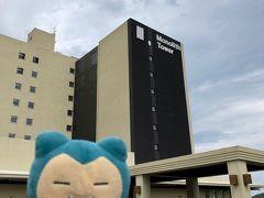 今回お世話になるモノリスタワー(新館)で降車。2012年オープンのハワイアンズでいちばん新しい宿泊施設です。
