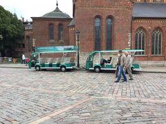 リーガ大聖堂の前の ドーマ広場 Doma Square に観光用のバギーカーのような可愛い車が停まっていました。