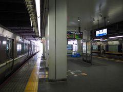 新快速乗り継いであっという間に京都に到着。18切符利用者も多いのに加えて地元の利用もあり、新快速は混んでました。