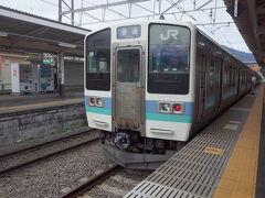 豊田で中央線各駅停車甲府行きに乗り換え。 車内は相模湖周辺のトラッキングするお客様が結構いらっしゃりました。 211系に乗るのは久しぶり。
