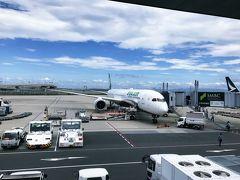 今回はエバー航空でのフライトです。 飛行機が!!大きい!!ボーイングだー!! いつもピーチのちっこいエアバスなので、ボーディングブリッジ着けてもらえてもギューンと角度下がってるんだけども、今回はほぼほぼ水平…! すごいな~ レガシーはすごいな~