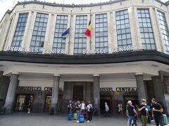 ようやくブリュッセル中央駅に到着! 1日しかないのに天気がイマイチ(><)