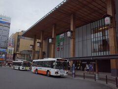 長野駅到着~ オリンピックが20年前あったからですかね、立派な駅です。