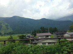 白馬の山々を見ながら走ります。 五竜のゲレンデが見えます。